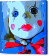 Doll In Blue Acrylic Print