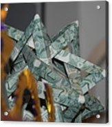 Dollar Origami Acrylic Print