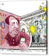 Dollar Vs Yen Acrylic Print