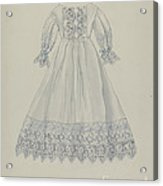 Doll's Dress Acrylic Print