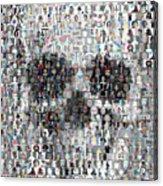 Dolls Skull Mosaic Acrylic Print
