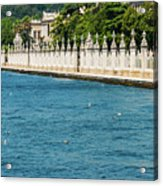 Dolmabahce Palace Tower And Fence Acrylic Print