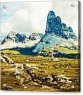 Dolomites, Monte Piana, Italy Acrylic Print