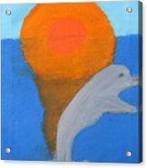 Dolphin At Sunset Acrylic Print