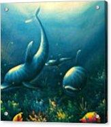 Dolphin Euphoria Acrylic Print