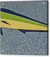 Dolphinfish Inlay On Alabama Welcome Center Floor Acrylic Print