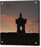 Dome And Sunset - Antigua Guatemala Acrylic Print
