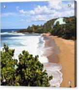 Domes Beach Rincon Puerto Rico Acrylic Print by George Oze