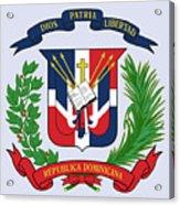 Dominican Republic Coat Of Arms Acrylic Print