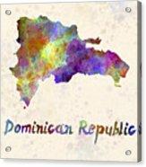 Dominican Republic In Watercolor Acrylic Print