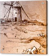 Don Quijote Windmills 06 Acrylic Print