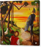 Don Quixote And Sancho Acrylic Print