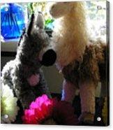 Donkey Joti And Dali Llama Acrylic Print