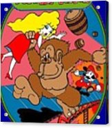 Donkey Kong Arcade Game Art Acrylic Print