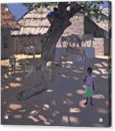 Donkeys Lamu Kenya Acrylic Print