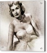 Donna Reed, Vintage Actress By John Springfield Acrylic Print