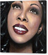 Donna Summer Acrylic Print by Tom Carlton