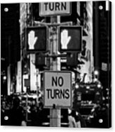 Don't Walk At Times Square Acrylic Print