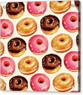 Donut Pattern Acrylic Print