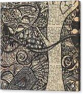 Doodle Bird Acrylic Print