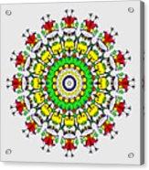 Doodle Mandala Acrylic Print