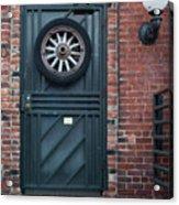 Door And Wheel Acrylic Print