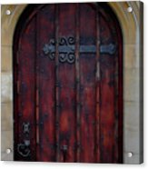 Door At Bath Abbey Acrylic Print