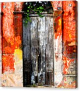 Door At The Red Corner By Darian Day Acrylic Print