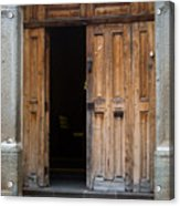 Door Entrance To Church In Guatemala Acrylic Print
