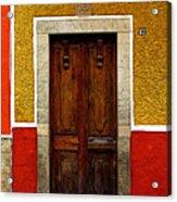 Door In Abstract Acrylic Print