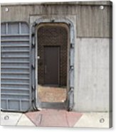 Door In The Richmond Floodwall Acrylic Print
