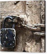 Door Lock And Chain Acrylic Print