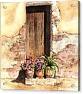 Door With Flowers Acrylic Print