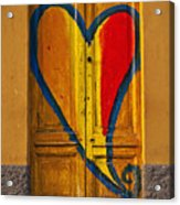 Door With Heart Acrylic Print by Joana Kruse