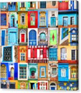 Doors And Windows Of The World - Vertical Acrylic Print