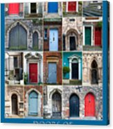 Doors Of Lincoln Acrylic Print