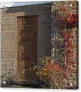 Doorway At The Stone House - Photograph Acrylic Print