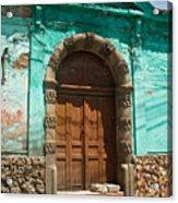 Doorway Quezaltenango Guatemala 1 Acrylic Print