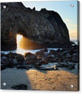 Doorway To Heaven In Big Sur Acrylic Print by Pierre Leclerc Photography