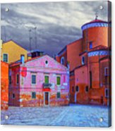 Dorsoduro Colors Under The Clouds 2 Acrylic Print