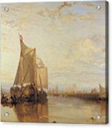 Dort Or Dordrecht The Dort Packet Boat From Rotterdam Becalmed Acrylic Print