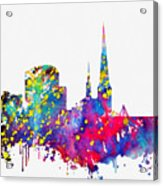 Dortmund Skyline-colorful Acrylic Print