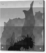 Dot Splat Strata Acrylic Print