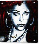 Dotty Diva Acrylic Print