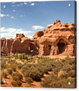 Double Arch Famous Landmark In Arches National Park Utah Acrylic Print