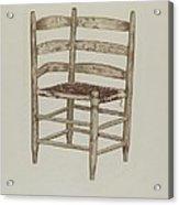 Double Back Chair Acrylic Print