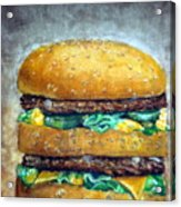 Double Burger To Go Acrylic Print