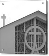 Double Cross Church Acrylic Print