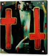 Double Cross La Femme Acrylic Print