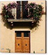 Double Doors And Balcony Acrylic Print